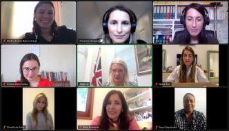 Red de Mujeres UPLA se reúnen con Amanda Milling, Presidenta del Partido Conservador Británico