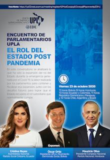 Parlamentarios UPLA Analizan el Rol del Estado Post Pandemia